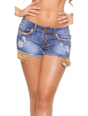 READ-PANTALONCINO SHORT JEANS CON STRASS