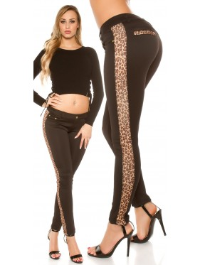 SPENCY-PANTALONE CON LEOPARDO