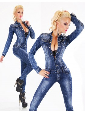 ALESHA-OVERALL IN JEANS