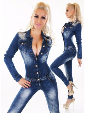 PRUE-OVERALL IN JEANS
