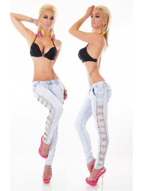 SNAP-JEANS SKINNY CON PIZZO
