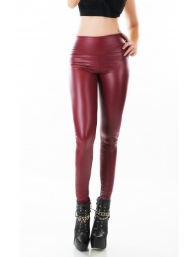 HABE-LEGGINGS IN ECOPELLE CON INTERNO FELPATO