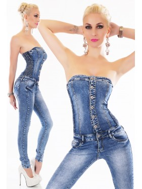NYDIA-OVERALL IN JEANS