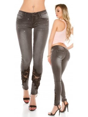 Jeans Wang con pizzo