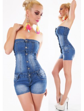 WILLA-OVERALL PANTALONCINO IN JEANS