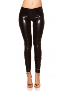 SHINY-LEGGINGS IN ECOPELLE
