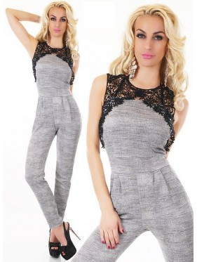 NEY-OVERALL LUNGO CON PIZZO