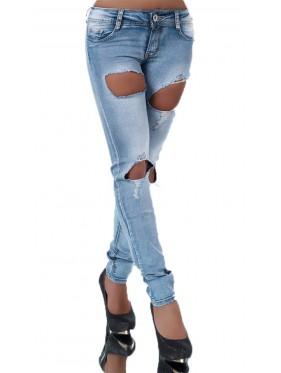 Vrinda-jeans skinny con strappi