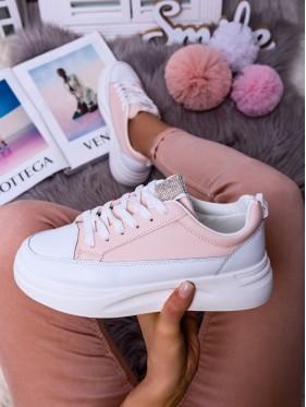 Sneakers brillantini cipria