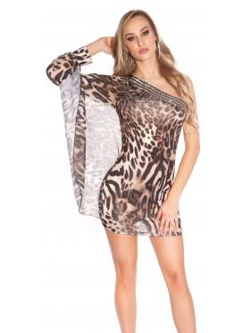 Abito Joanna monomanica leopardato
