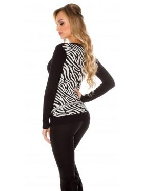 Maglia Sallie Nero-zebra