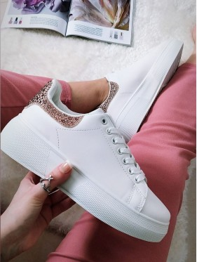SNEAKERS BIANCHE CON STRASS